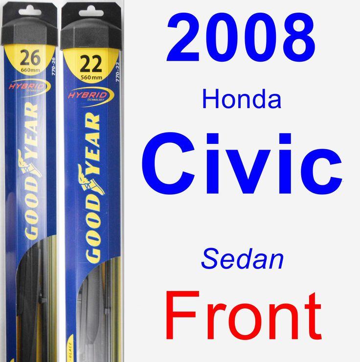 Front Wiper Blade Pack for 2008 Honda Civic - Hybrid