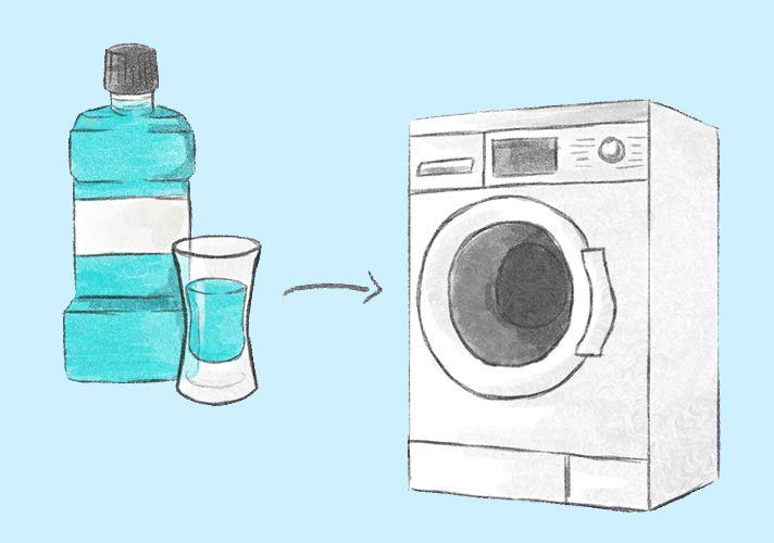 Mundwasser gegen Geruch in der Waschmaschine