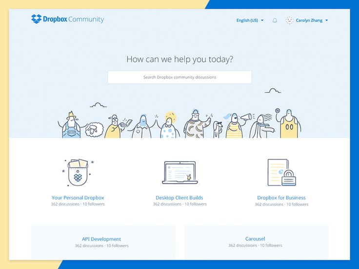We designed and built the Dropbox Community with the amazing people at Dropbox. Here is the overview page. Full view in the attachment. @Carolyn Zhang was lead designer and @Zach Graham worked h...