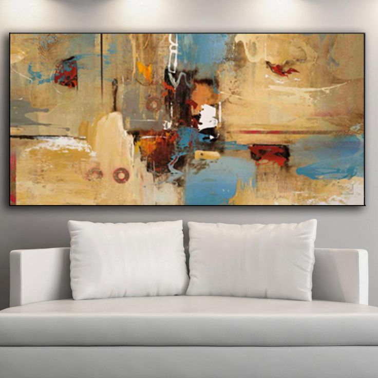 Bright colors Modern Abstract Oil Painting Canvas Painting HD Print Wall Art Picture for Living Room Home Decor