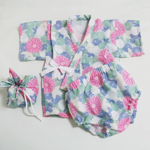 baby kimono, and bag, pdf pattern downloadable.  baby size 6mos to 18mos.