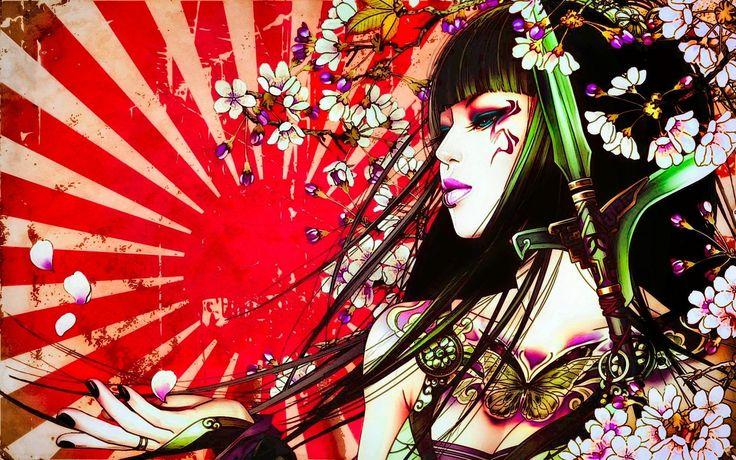 1920x1200 tattoos, arts, asian tattoos, girl tattoos, asian ...