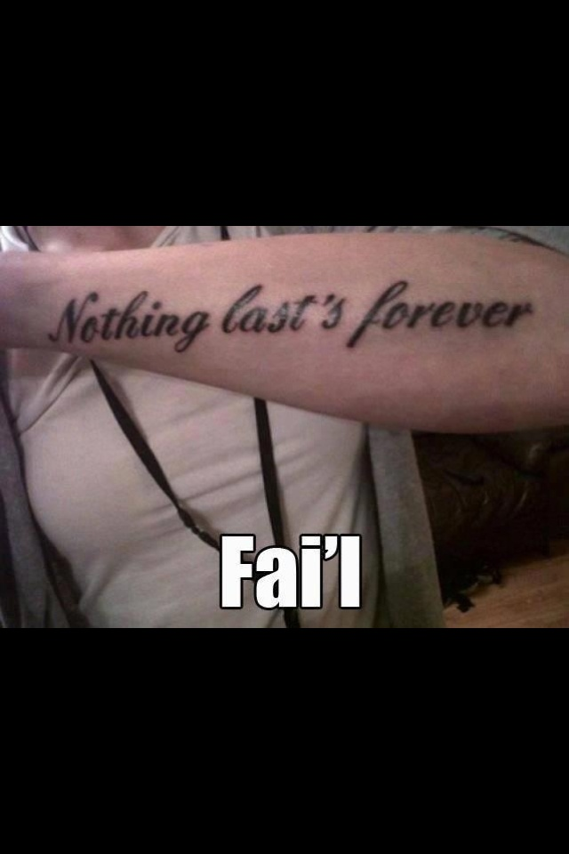 But this misspelled tattoo comes close...