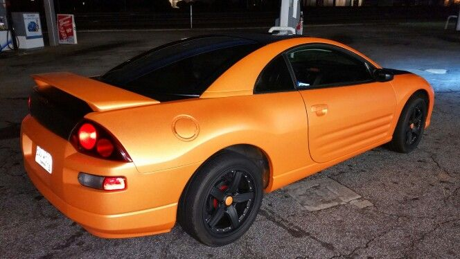 2002 Mitsubishi Eclipse Team Orange Pearl HALO Plastidip