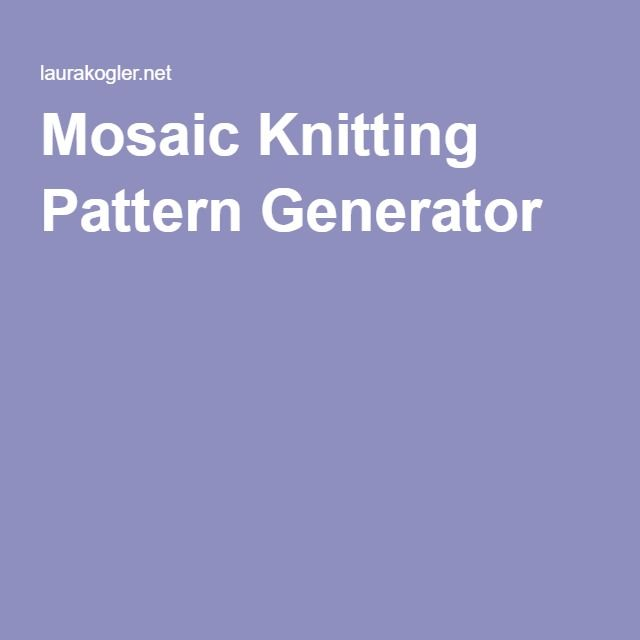 Knitting Pattern Generator From Picture : 1000+ images about Knit and Crochet on Pinterest Cable, Purl bee and Stitches