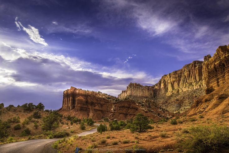 """""""Capitol Reef"""" by AniGolg landscape, photography, road, USA"""