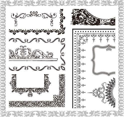 飾り枠素材・クラシックエレガントでエクセレントな70個