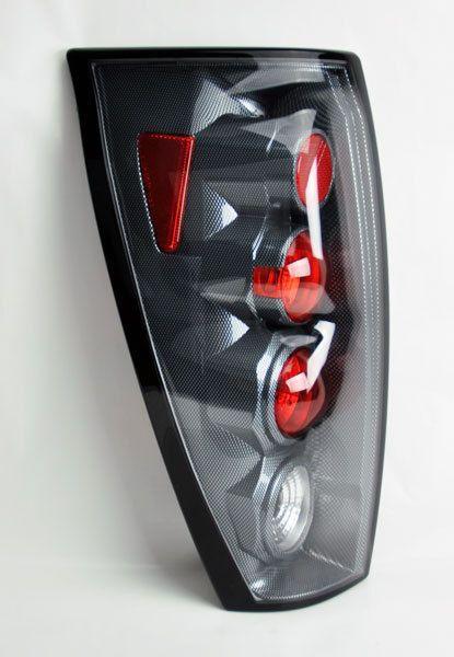 Chevy Avalanche 02-06 Rear Altezza Tail lights - Carbon Fiber Pair RH LH