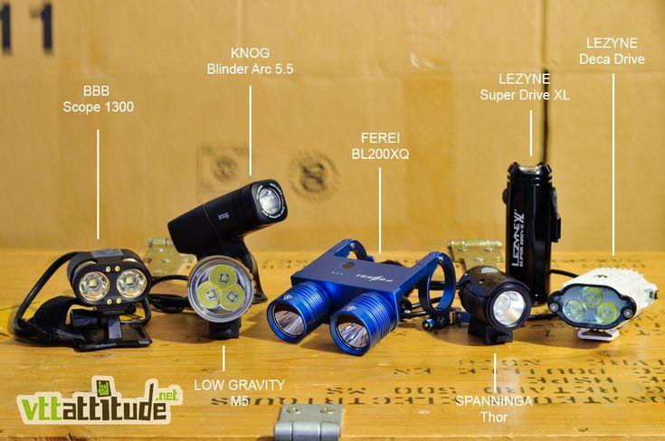 Comparatif lampes VTT : BBB, Ferei, Knog, Lezyne, Low Gravity, Spanninga