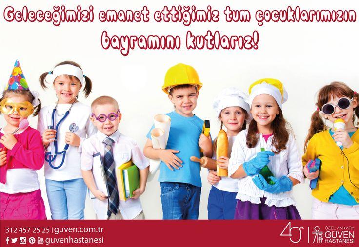 Geleceğimizi emanet ettiğimiz tüm çocuklarımızın bayramını kutlarız! 23 Nisan Ulusal Egemenlik ve Çocuk Bayramı