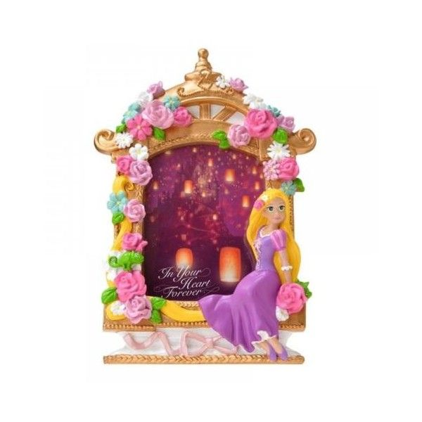 New Disney Store Rapunzel Tangled Photo Frame Stand Purple Flower... ❤ liked on Polyvore featuring home, home decor, frames, purple home decor, purple frames, disney picture frames, purple picture frames and disney frames