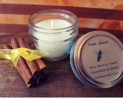 Bees Wax Candle (Yellow or Ivory) - Cinnamon & Honey