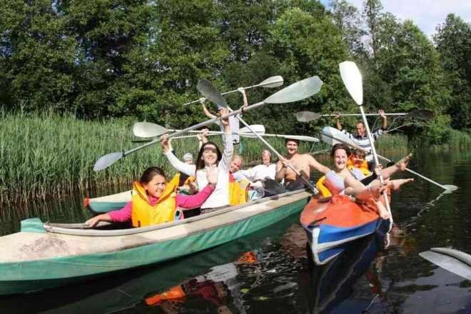 Rafting down the river Vladimir olasti