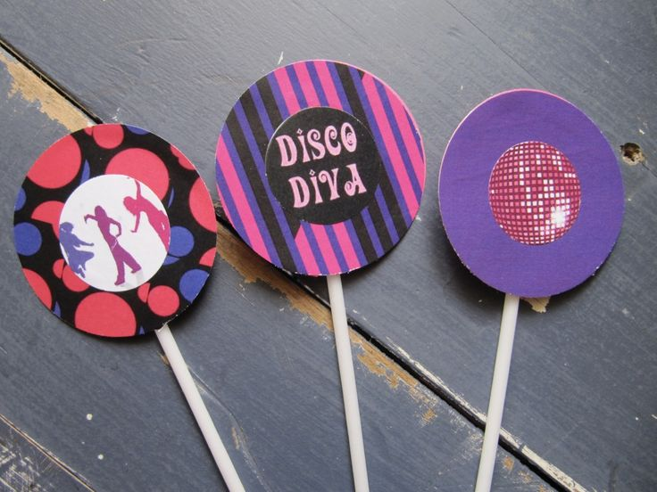 Disco Diva Cupcake Toppers