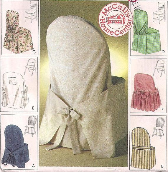 McCalls 2787 Fabric Chair Covers Windsor ladder back and folding chairs home decor pattern