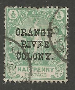 """1900 Cape of Good Hope.Postage Stamps Overprinted """"Orange River Colony"""""""