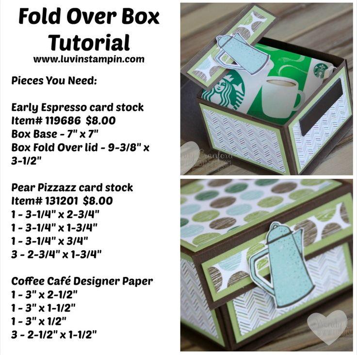 Fold Over Box tutorial supply list www.luvinstampin.com Wendy Cranford