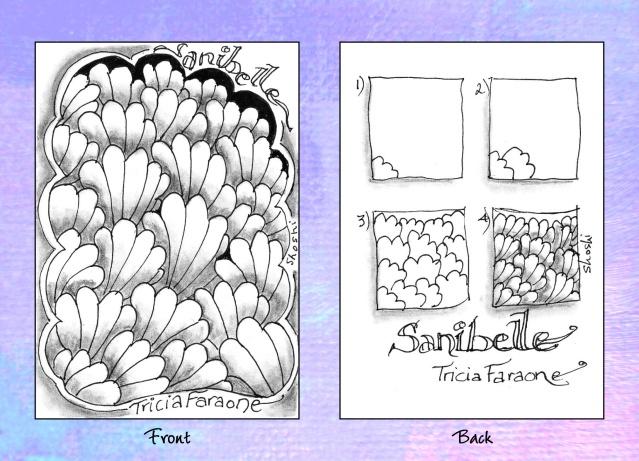 Sanibelle ~ a Zentangle #tangle by Tricia Farone #CertifiedZentangleTeacher