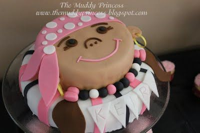 Cute girls Pirate party theme.
