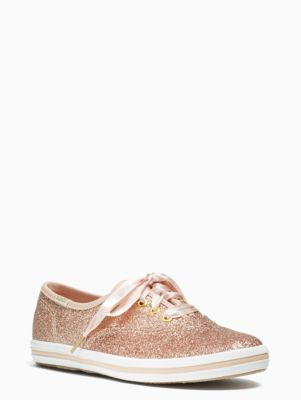 ab5d3909d9f FLOWER GIRL S SHOES keds kids x kate spade new york champion glitter youth  sneakers
