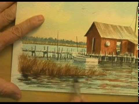 This subject is one of my favorite old crab sheds...this may be a little complex for a short demo, but it's all taken one brush stroke at a time! I hope you ...