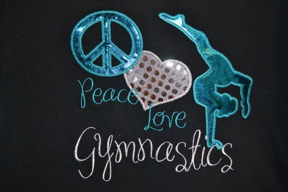 Gymnastic Shirt by RazzleDazzleMimi on Etsy, $23.00