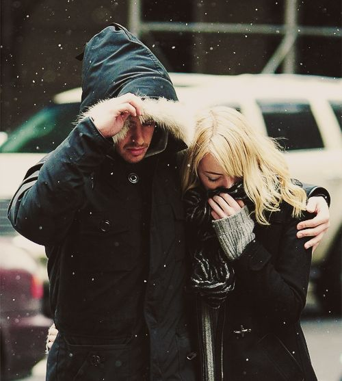 Andrew Garfield and Emma Stone out in NYC, February 5.