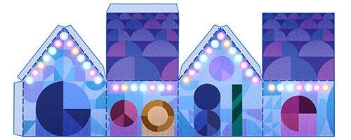 Google Doodles Happy Holidays Day 2 (12/24/15)