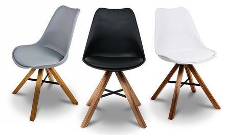 Adatte per una cucina, sala da pranzo o ufficio, queste comode sedie sono caratterizzate da un design moderno e sono disponibili in 3 colori