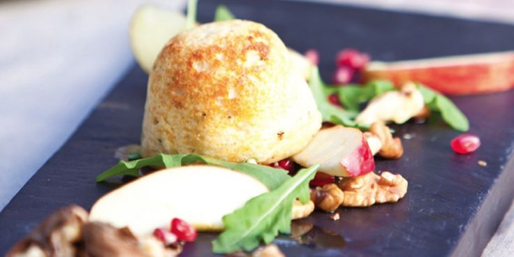 Cheese Soufflés Recipe With Apple & Walnut Salad - Great British Chefs