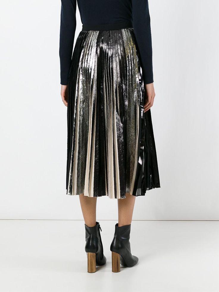 Proenza Schouler плиссированная юбка с эффектом металлик