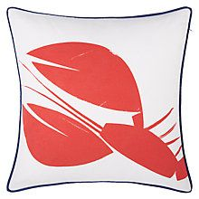 Buy John Lewis Coastal Lobster Outdoor Square Cushion Online at johnlewis.com