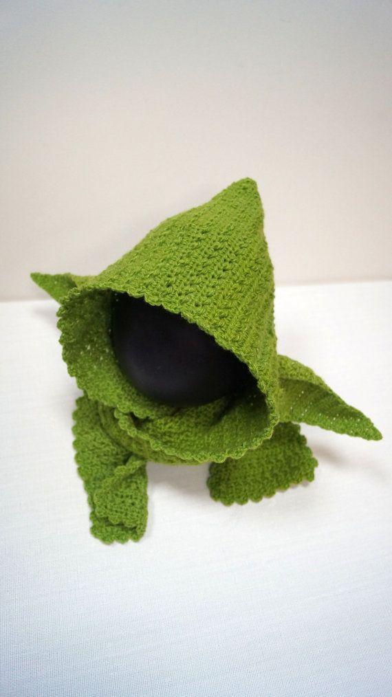 Yoda Hooded Scarf Pattern PDF Star Wars Jedi by stepbystepatterns