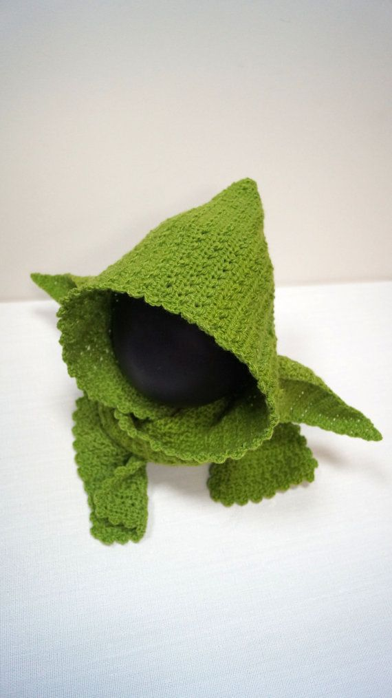 Yoda Hooded Scarf Pattern PDF Star Wars Jedi by stepbystepatterns