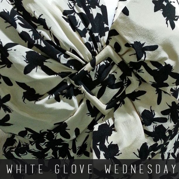It's #WhiteGloveWednesday.  Today's artifact is this striking bumblebee dress that was owned by Katherine Tupper Marshall and given to Minnie Hinkhaus. There is no tag to indicate where it was made, though Katherine owned many dresses purchased in China.  http://marshallfoundation.org/museum/museum-week-bumblebee-silk-dress/