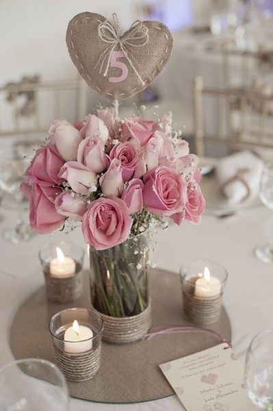 center pieces, but in french flower buckets.