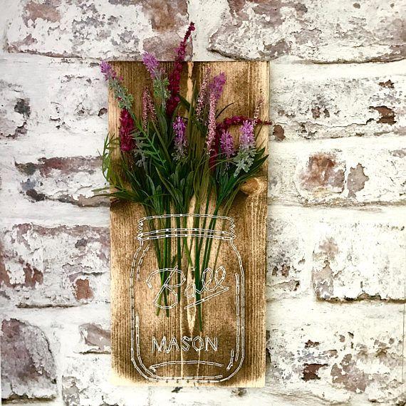 mason jar string art custom wall decor handmade mason jar