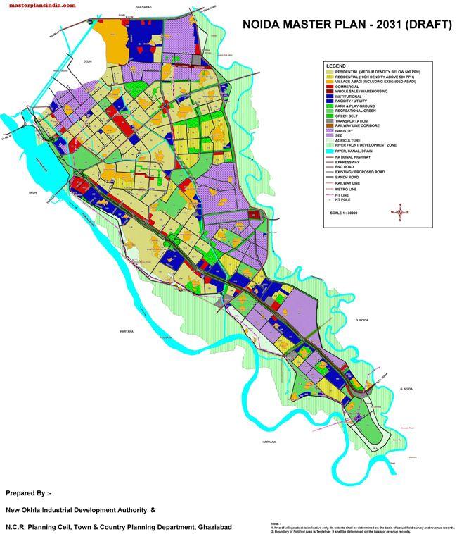 Noida Master Plan 2031 Map