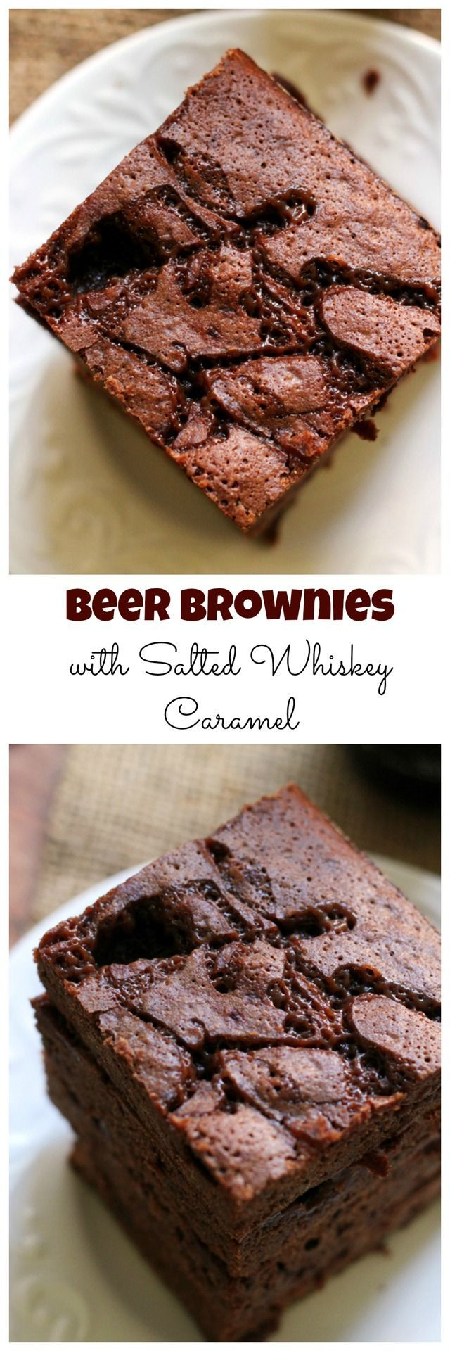 Why drink your alcohol when you can eat it? These beer brownies are rich and decadent, especially after being covered in a layer of salted whiskey caramel sauce.