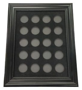 "Chip Insert 20 Casino Chips Display Board Case with Frame 9x12"" Holds 20 Chips 