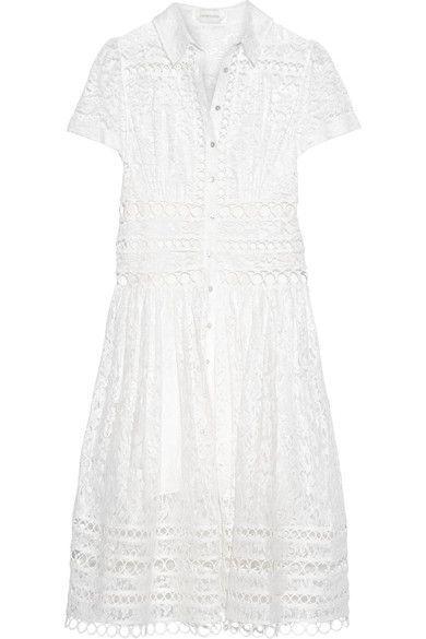 Zimmermann - Winsome Cotton-blend Lace Midi Dress - Ivory - 1