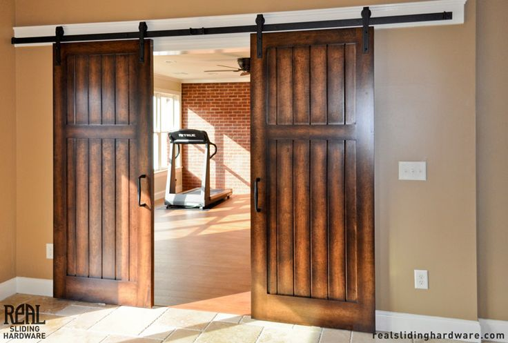 1000 images about barn door on pinterest for Dual track barn door hardware