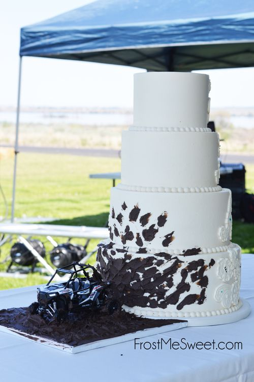 Wedding Fun & Different — Frost Me Sweet funny mud ATV dirt Bike wedding cake by Frost Me Sweet