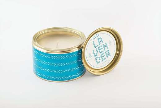 "Green Blu - ""WAKS"" Tin Candle Lavender 300gr"