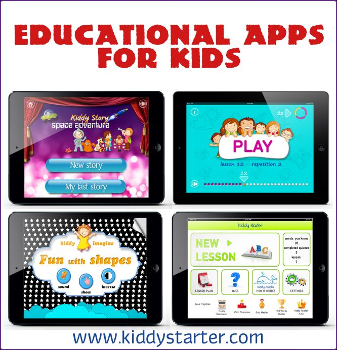 17 brilliant educational apps for kids to develop their natural skills. All while having fun. #kiddystarter