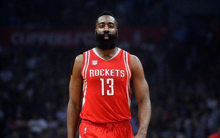 Descargar fondos de pantalla James Edward Harden, de los Rockets de Houston, 4k, NBA, baloncesto, estados UNIDOS, jugador de baloncesto Estadounidense
