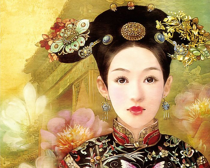 ballroom hairstyles : Qing dynasty, Chinese hairstyles and Chinese on Pinterest