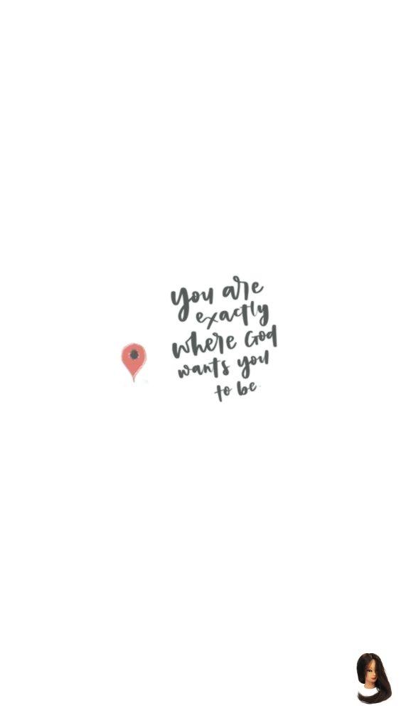 Du bist genau dort, wo Gott dich haben will