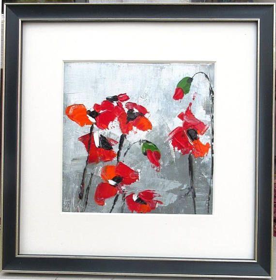 Ballade Au Jardin Peinture Huile Au Couteau Sur Toile De Lin Avec Cadre En Bois Floral Painting Painting Abstract