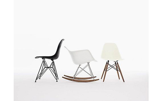 Eames® Molded Plastic Chair, black wire base